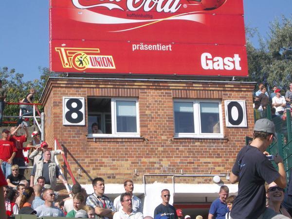 Il tabellone che segna il risultato 8-0