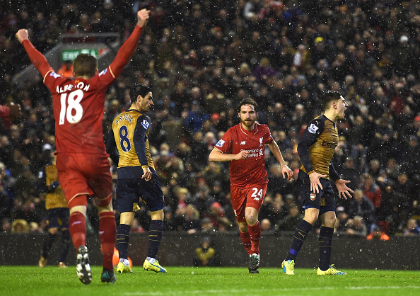 Liverpool Arsenal Allen