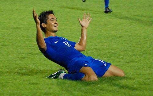 Sunil Chhetri, match-winner nei tempi supplementari. Fonte foto: goal.com