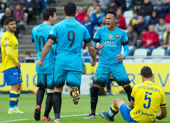 Las Palmas Barcellona Liga Neymar Suarez Messi