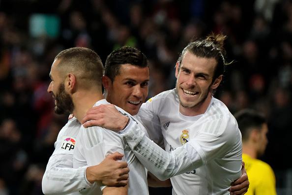 Bale Benzema Cristiano Real Madrid-Siviglia 4-0