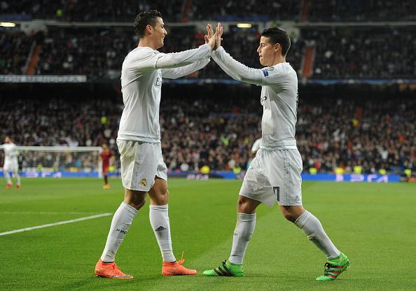 Real Madrid Roma Cristiano Ronaldo James Rodriguez