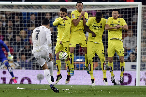 Cristiano Ronaldo punizione Villarreal