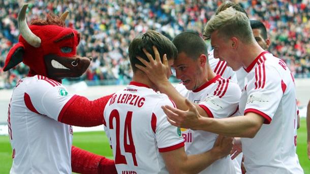 I festeggiamenti del RB Lipsia